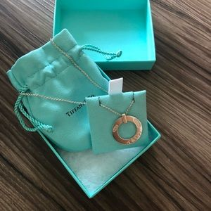 Tiffany & Co circle pendant silver necklace